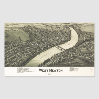 Aerial View of West Newton, Pennsylvania (1900) Sticker