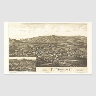 Aerial View of West Randolph, Vermont (1886) Sticker