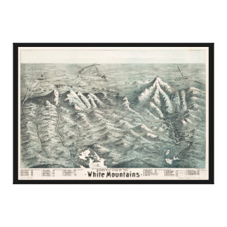 Aerial View of White Mountains, New Hampshire 1890 Canvas Print