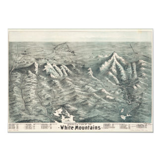 Aerial View of White Mountains, New Hampshire 1890 Card