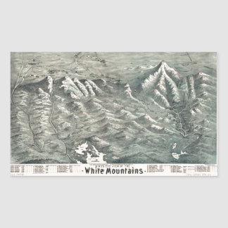 Aerial View of White Mountains, New Hampshire 1890 Sticker
