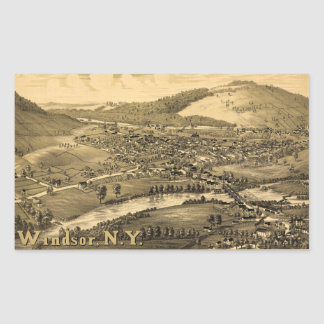 Aerial View of Windsor, New York (1887) Sticker