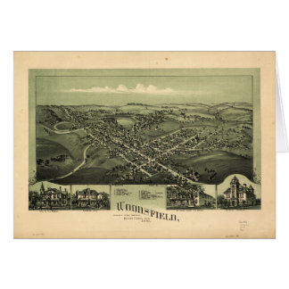 Aerial View of Woodsfield, Monroe Co. Ohio (1899) Card