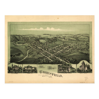Aerial View of Woodsfield, Monroe Co. Ohio (1899) Postcard