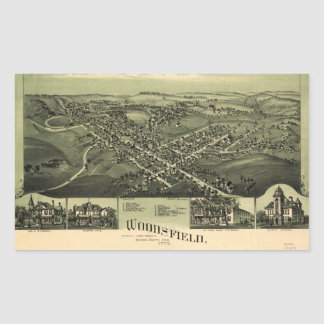 Aerial View of Woodsfield, Monroe Co. Ohio (1899) Sticker