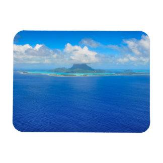 Aerial view over Bora Bora rectangular magnet