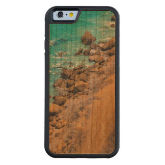 Aerial View Pacific Ocean Coastline Puerto Lopez Carved Cherry iPhone 6 Bumper Case