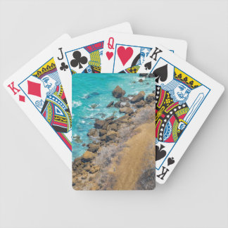 Aerial View Pacific Ocean Coastline Puerto Lopez E Bicycle Playing Cards
