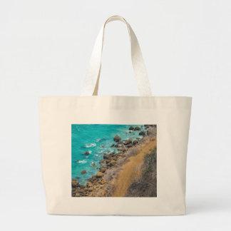 Aerial View Pacific Ocean Coastline Puerto Lopez E Large Tote Bag