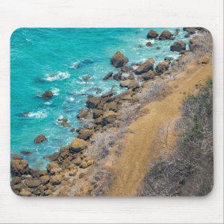 Aerial View Pacific Ocean Coastline Puerto Lopez E Mouse Pad