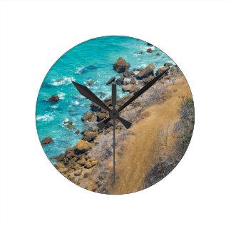 Aerial View Pacific Ocean Coastline Puerto Lopez E Round Clock