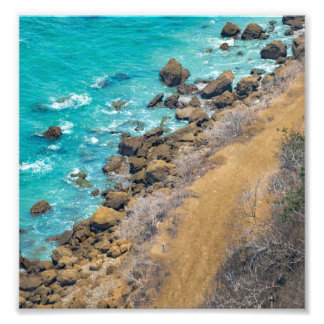 Aerial View Pacific Ocean Coastline Puerto Lopez Photographic Print