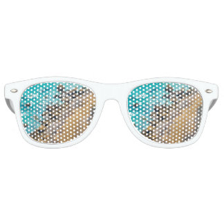 Aerial View Pacific Ocean Coastline Puerto Lopez Retro Sunglasses