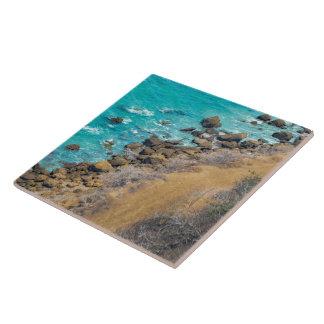 Aerial View Pacific Ocean Coastline Puerto Lopez Tile