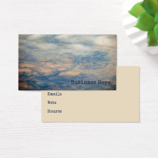 Aerial View Patchwork Landscape Scenery Business Card