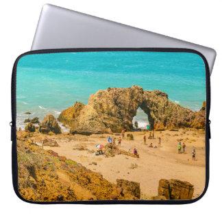 Aerial View Pedra Furada Jericoacoara Brazil Laptop Sleeves