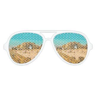 Aerial View Pedra Furada Jericoacoara Brazil Party Sunglasses