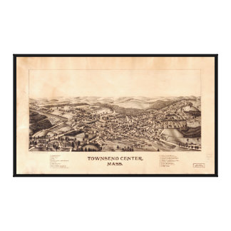 Aerial View Townsend Center, Massachusetts (1889) Canvas Print