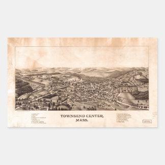 Aerial View Townsend Center, Massachusetts (1889) Sticker
