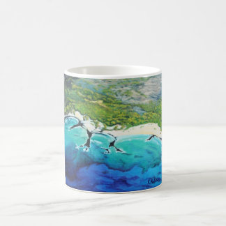 Aerial View Tropical Beach Art Mug