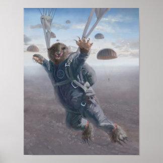 Aerial Wombat Joyride Poster