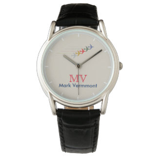 aero style cool stylish men watch with his name