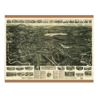 Aero View of Canton, Massachusetts (1918) Postcard
