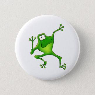 Aerobics Frog 2 Inch Round Button
