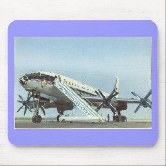 Aeroflot Tu 114 AIRLINER Mouse Pads