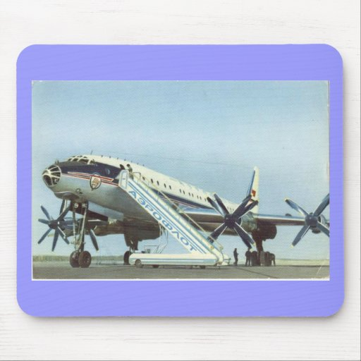 Aeroflot Tu 114 AIRLINER Mouse Pads