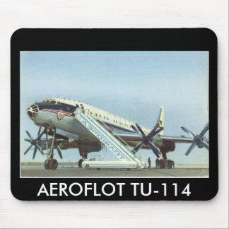 Aeroflot Tu 114 AIRLINER Mousepad