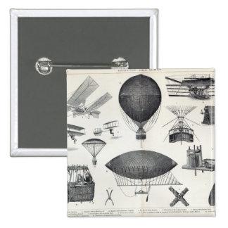 Aeronautics - Aerial Machines 2 Inch Square Button