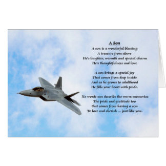 Aeroplane Design - Son Poem Card
