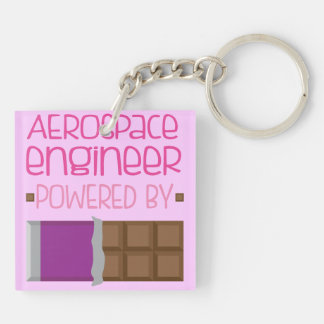Aerospace engineer Chocolate Gift for Woman Double-Sided Square Acrylic Keychain