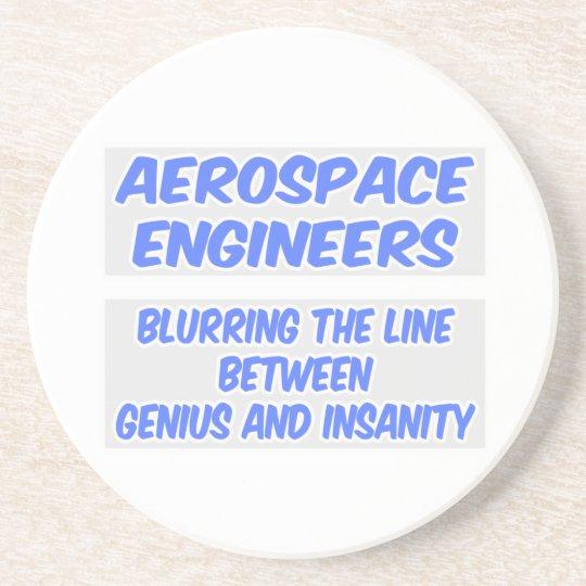 Aerospace Engineer Joke .. Genius and Insanity Coaster