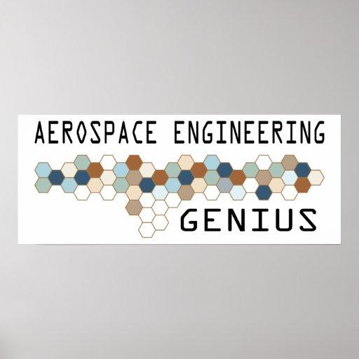 Aerospace Engineering Genius Poster