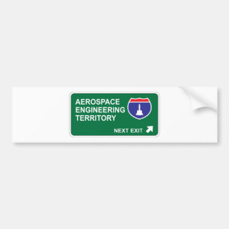 Aerospace Engineering Next Exit Bumper Sticker