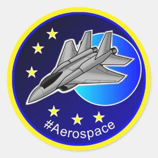 Aerospace Fighter Jet Round Sticker
