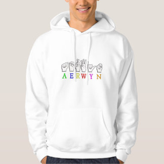 AERWYN FINGERSPELLED ASL DEAF SIGN NAME HOODIE