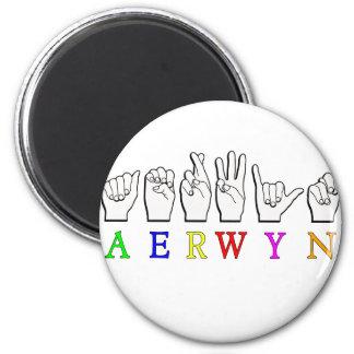 AERWYN FINGERSPELLED ASL DEAF SIGN NAME MAGNET