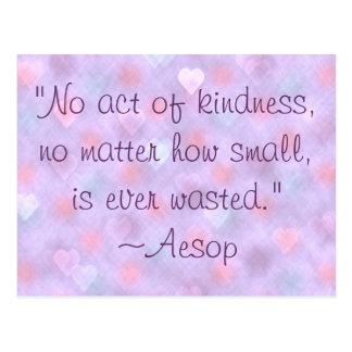 Aesop Kindness Quote Postcard