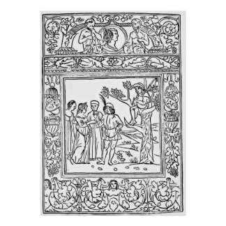 Aesop s Fables Illustration Engraving Posters