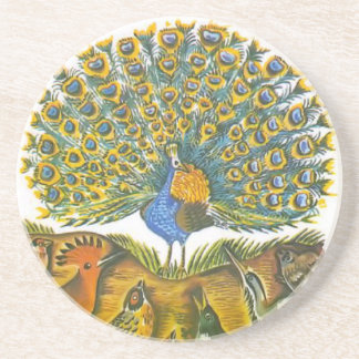 Aesop s fables the peacock and the birds coaster