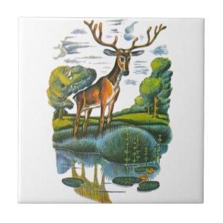 Aesop's fables, the deer and his reflection tile