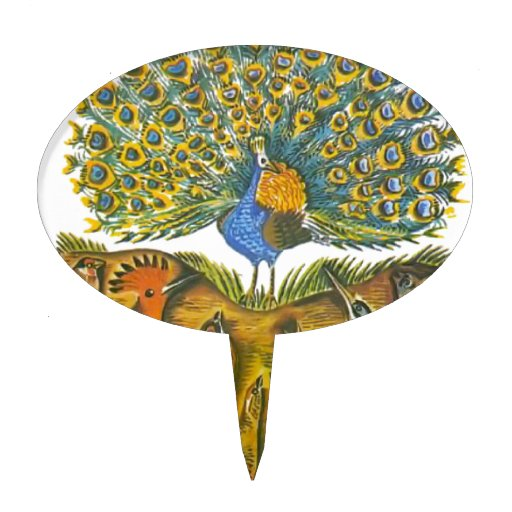 Aesop's fables, the peacock and the birds cake picks