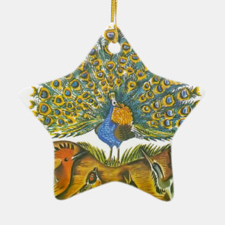 Aesop's fables, the peacock and the birds ceramic ornament