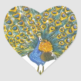 Aesop's fables, the peacock and the birds heart sticker