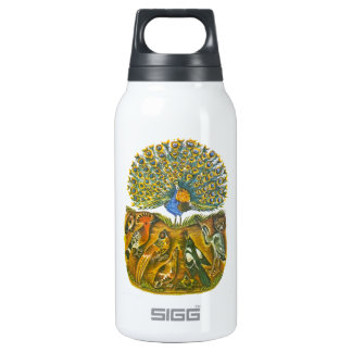Aesop's fables, the peacock and the birds insulated water bottle