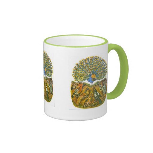 Aesop's fables, the peacock and the birds coffee mugs