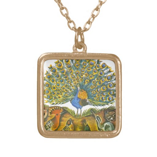 Aesop's fables, the peacock and the birds necklace